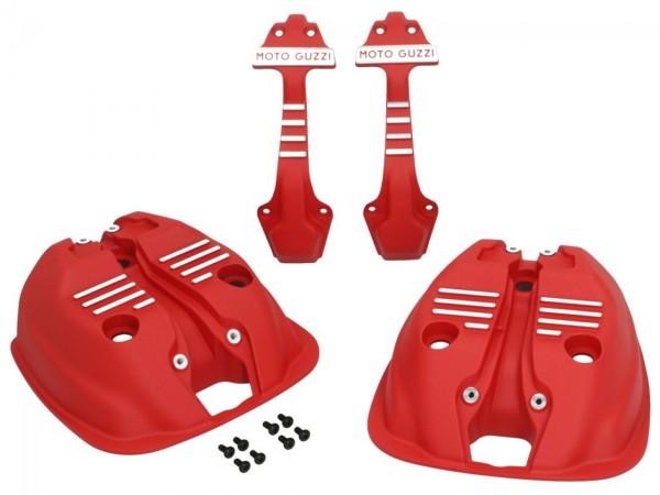 Copritestata (set) rosso per Moto Guzzi V7 III