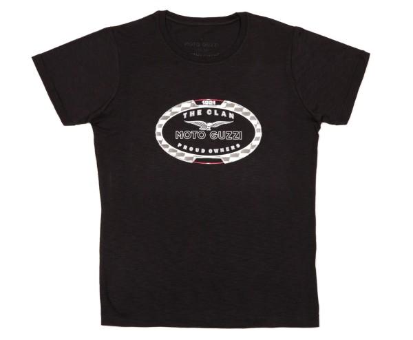 T-shirt uomo Moto Guzzi THE CLAN nera