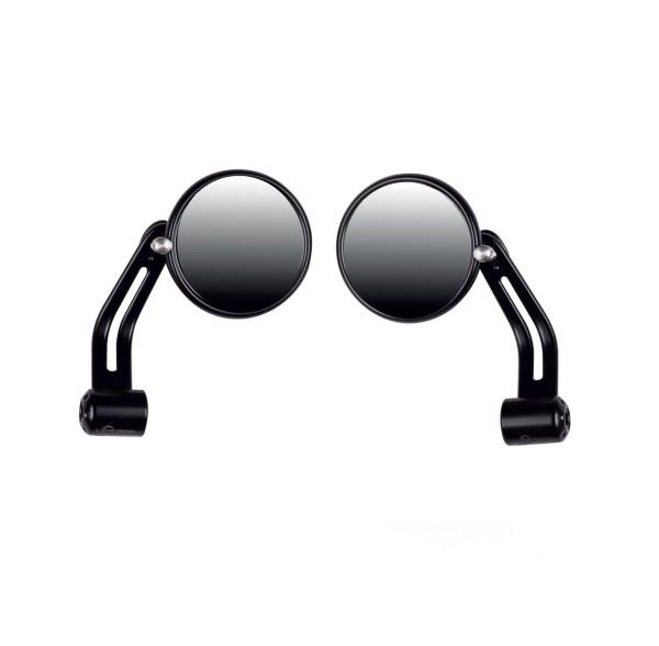Specchietto manubrio nero, alluminio per Moto Guzzi V7 I+II, V7 III