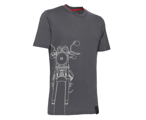 T-shirt Moto Guzzi uomo cotone grigio