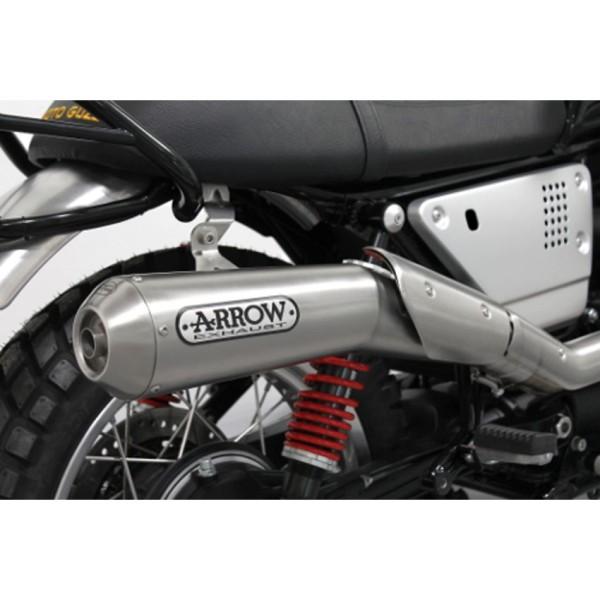 Originale Moto guzzi V7 III 2018- impianto di scarico Arrow, Euro 4, 2 in 1