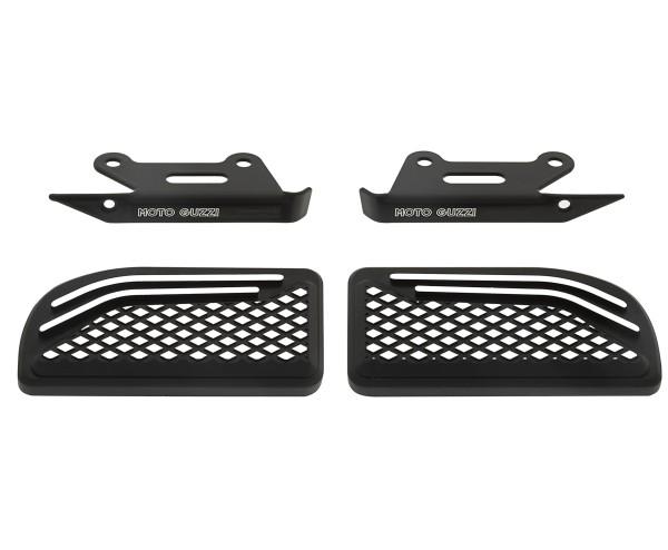 Copripedana, alluminio, nero, per passeggero per Moto Guzzi MGX 21