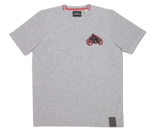 T-shirt uomo Moto Guzzi garage cotone grigio