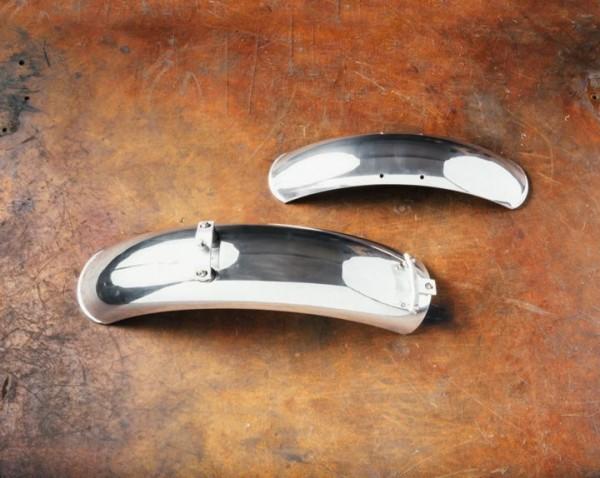 Parafanghi in alluminio, coppia, cromati per Moto Guzzi V7 I+II, V7 III