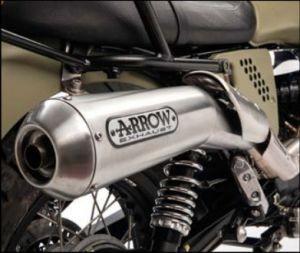 Impianto di scarico originale Arrow (versione ABS), slip on, Euro 3 per Moto Guzzi V7 II