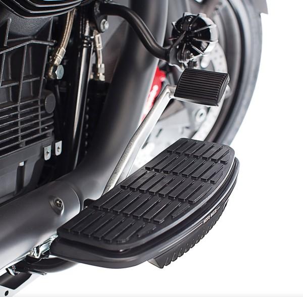 Copripedana, alluminio, nero per Moto Guzzi MGX 21 / Audace