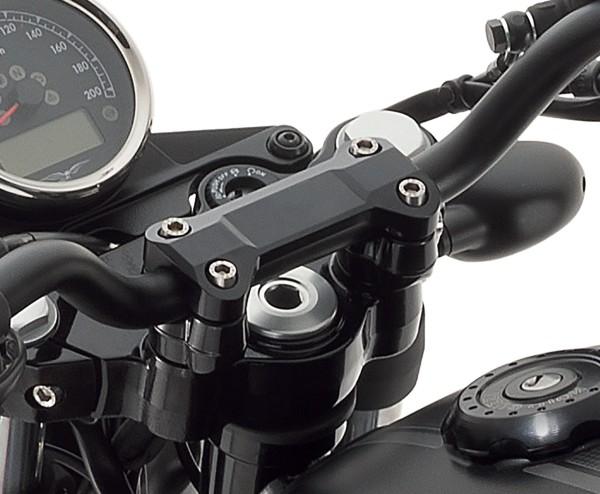 Coprimanubrio, alluminio, nero per Moto Guzzi V7 III
