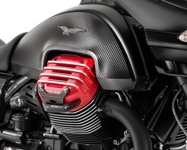 Barra di protezione in alluminio, nera per Moto Guzzi MGX 21