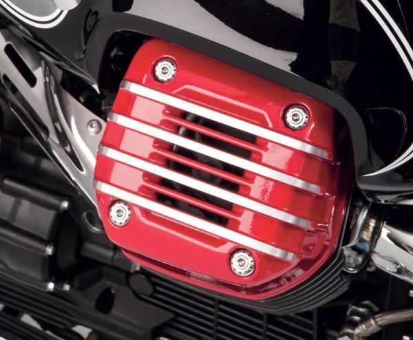 Cover originale per testata (coppia), rossa per Moto Guzzi Eldorado