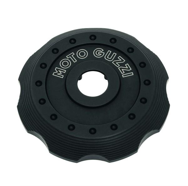 Cover per tappo serbatoio, alluminio nero per Moto Guzzi V7 III / V7 850