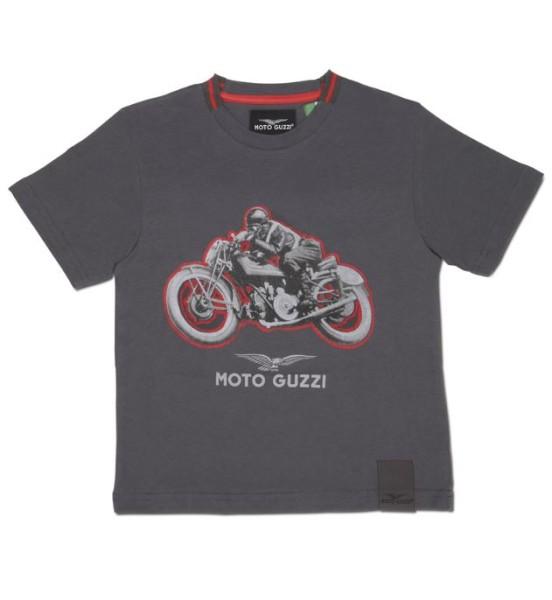 T-shirt bambino Moto Guzzi garage cotone grigio