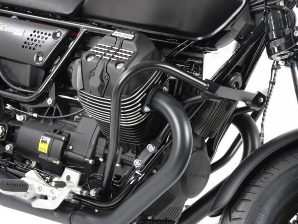 Barra protezione motore nera per V 9 Bobber (Bj.16-) / Bobber Sport (Bj.19-) originale Hepco & Becker