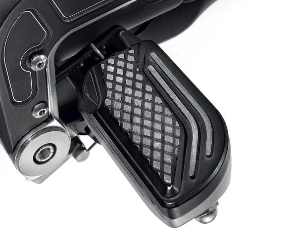 Copripedana, alluminio, nero per Moto Guzzi MGX 21