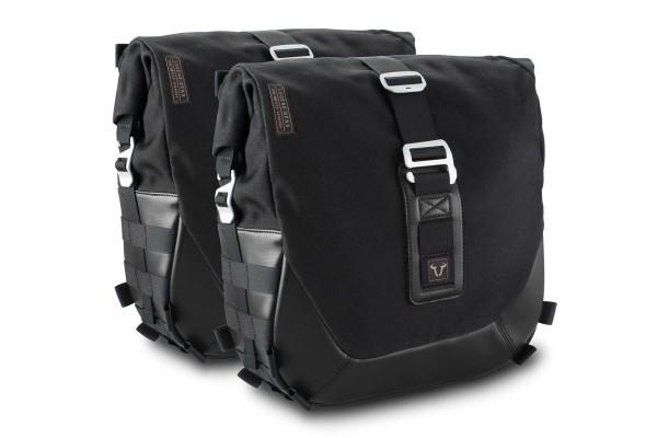 Sistema di borse laterali Legend Gear LC Black Edition per Moto Guzzi V7 III SW Motech