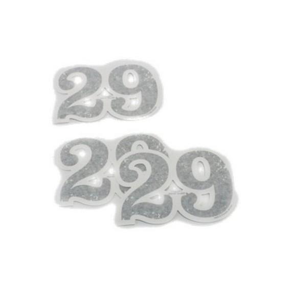 Set decoro originale, 29, numeri adesivi, alluminio per Moto Guzzi V7 I + II