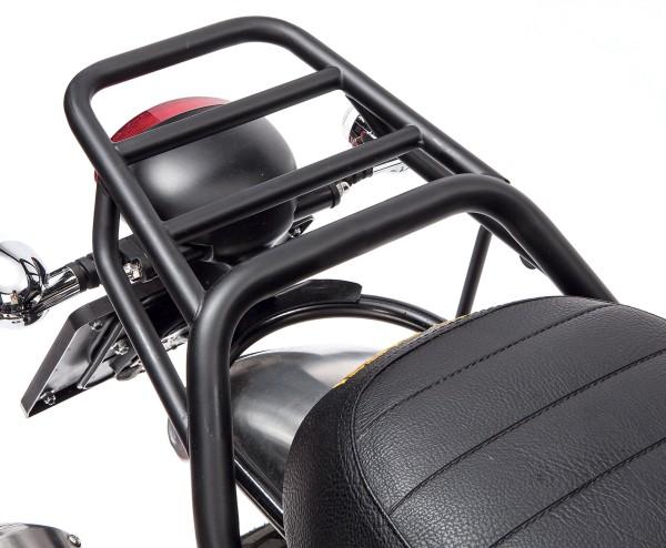 Portapacchi, posteriore, nero, rigido per Moto Guzzi V7 I + II, V7 III
