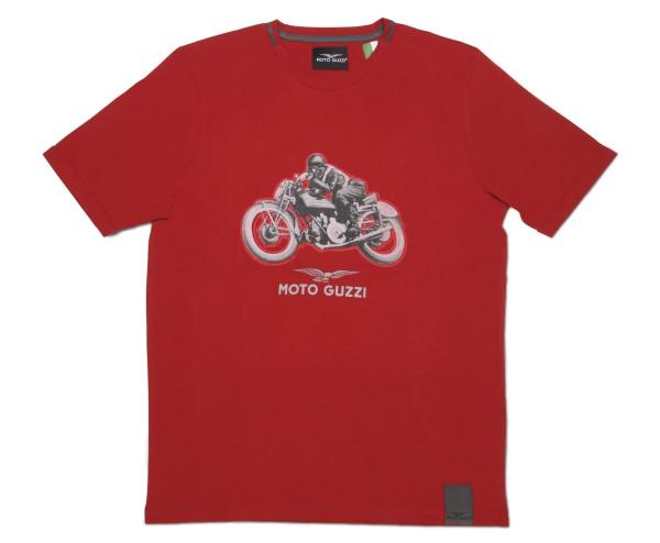 T-shirt uomo Moto Guzzi garage cotone rossa