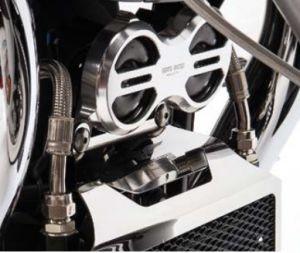 Cover clacson originale, alluminio, titanio per Moto Guzzi Eldorado / California