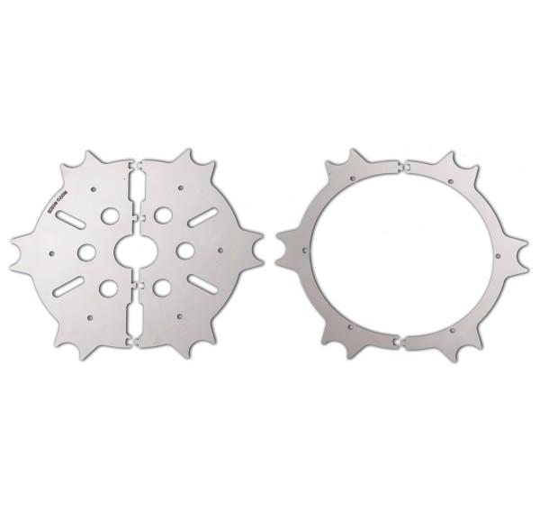 Copridisco freno originale, acciaio inox, argento, lucidato per Moto Guzzi Eldorado