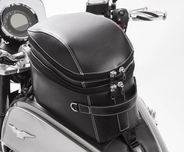 Borsa da serbatoio originale, in pelle, nera per Moto Guzzi Eldorado