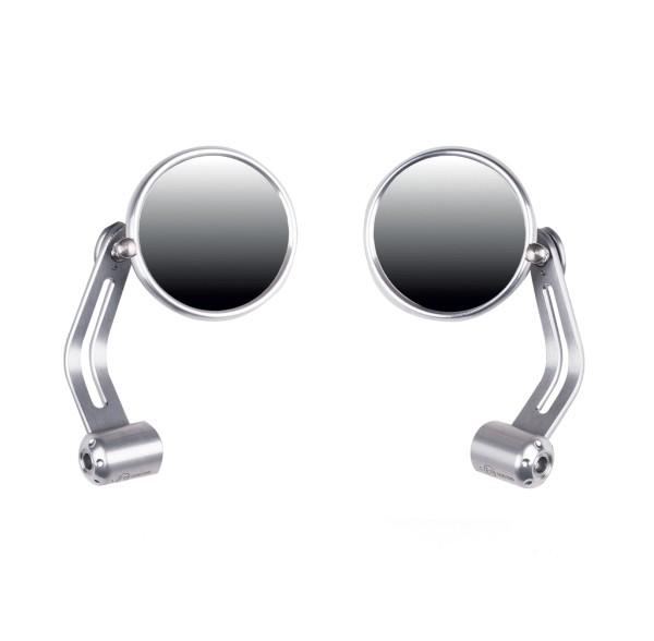 Specchio terminale manubrio Dark Rider, set, alluminio per Moto Guzzi V7 I + II, V7 III