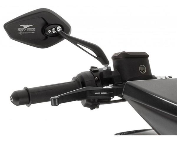 Specchio, set, alluminio, nero per Moto Guzzi MGX 21