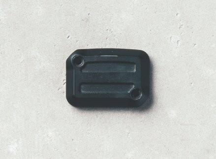 Coperchio per serbatoio liquido freni, alluminio, Dark Rider, nero per Moto Guzzi V7 III