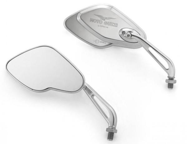 Specchio, set, alluminio, cromato per Moto Guzzi California
