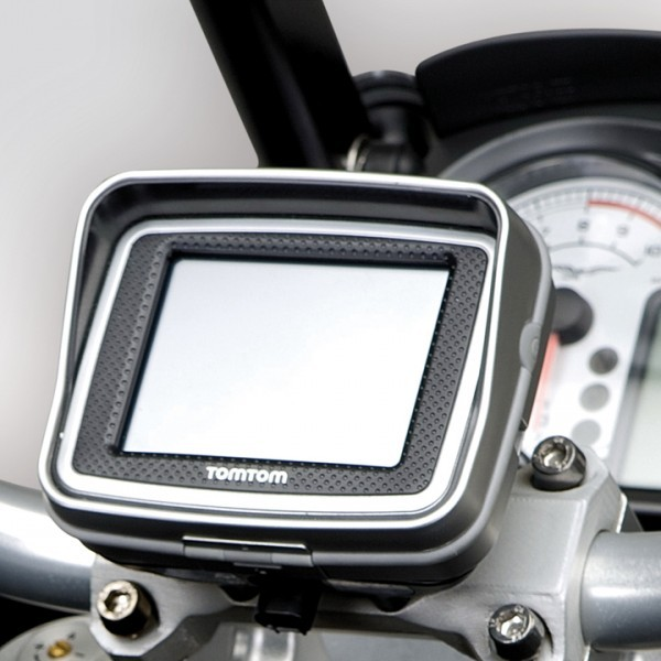 Supporto Moto Guzzi Stelvio per navigatore Tom Tom Rider II