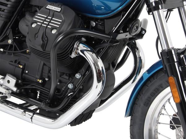 Barra protezione motore nera per V 7 III stone / special / Anniversario / Racer (Bj.17-)