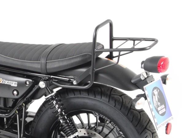 Portapacchi tubo bauletto portapacchi nero per modello V 9 Bobber (Bj.16-) con sella corta