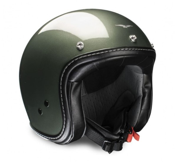 Casco Moto Guzzi jet Engine verde muschio