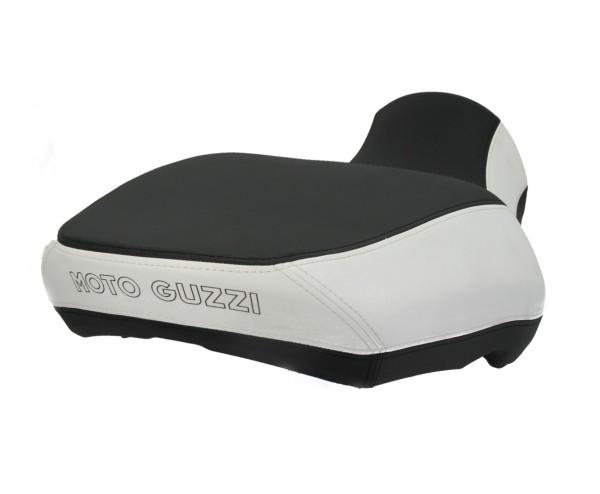 Sella Moto Guzzi California comfort, nera/bianca