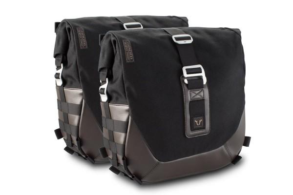 Sistema di borse laterali Legend Gear LC Black Edition per Moto Guzzi V9 Roamer / Bobber SW Motech