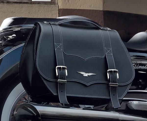 Borse laterali originali, in pelle, nere, 23 l per Moto Guzzi Eldorado