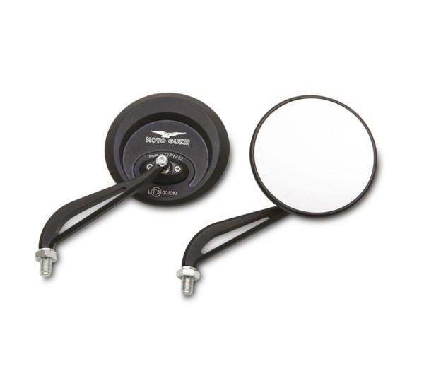 Spiegel, Aluminium, schwarz, Dark für Moto Guzzi Audace