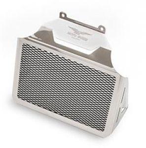Coperchio radiatore olio originale, alluminio, argento per Moto Guzzi Eldorado / California