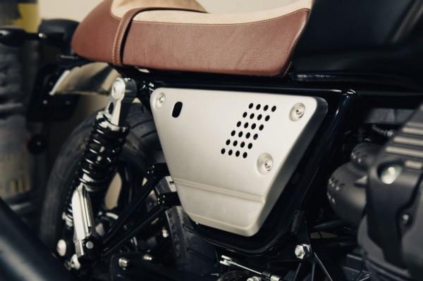 Set cover laterali in alluminio argento Moto Guzzi V7 III / V9 Bobber / Roamer