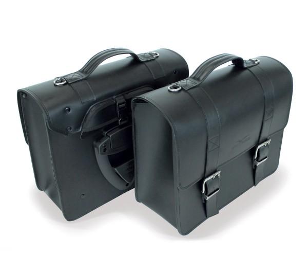 Borsa laterale, nera per Moto Guzzi V7 III / V9 Bobber / Roamer / Audace