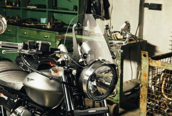 Cornice faro, cromata per Moto Guzzi V7 III / V9 Bobber / V9 Roamer