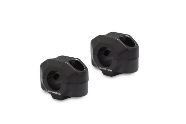 Rialzo manubrio 15 mm nero per Moto Guzzi V7 III (16-) SW Motech